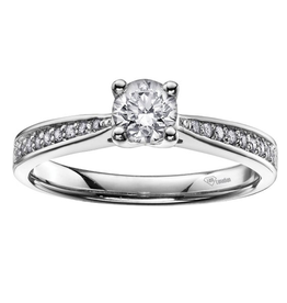 I am Canadian Brilliant White Gold (0.50ct) Canadian Diamond Pavee Engagement Ring