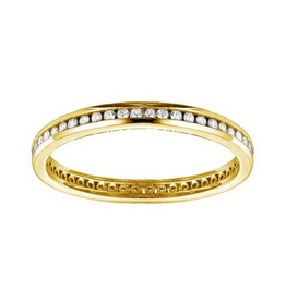 Yellow Gold Channel Set (0.25ct) Diamond Eternity Band