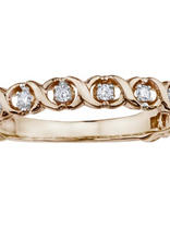 Rose Gold (0.09ct) Diamond Stackable Band