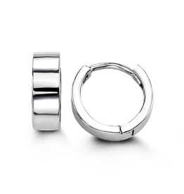 Sterling Silver Small Huggie Hoop Earrings 11mm
