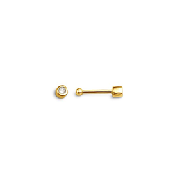 14K Yellow Gold (0.01ct) Diamond Bezel Set Nose Stud