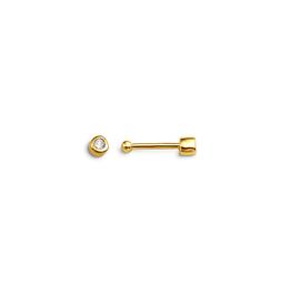 Diamond Bezel Set Nose Stud (0.01ct) 14K Yellow Gold
