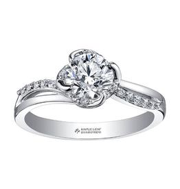 Maple Leaf Diamonds 18K Palladium White Gold Maple Leaf (0.40ct) Canadian Diamond Engagement Ring