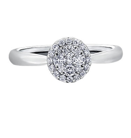 Estoria Cluster Diamond (0.33ct) White Gold Ring
