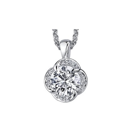 Maple Leaf Diamonds 18K White Gold Winds Embrace (0.26ct) Canadian Diamond Pendant