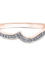 10K Rose Gold (0.09ct) Pavee Set Diamond Matching Wedding Band