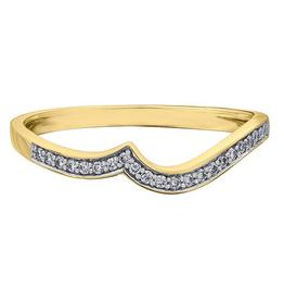 10K Yellow Gold (0.09ct) Diamond Pavee Matching Wedding Band