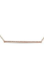 10K Rose Gold (0.05ct) Diamond Horizontal Bar Necklace