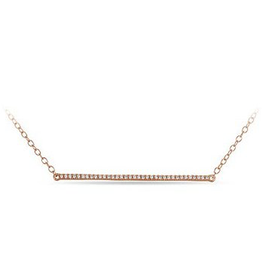 Horizontal Bar (0.05ct) 10K Rose Gold