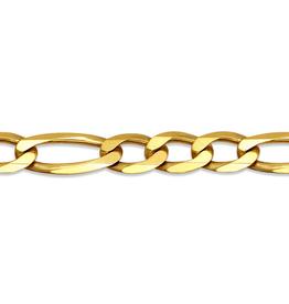 """10K Yellow Gold Men's 4.6mm Figaro Chain 22"""""""