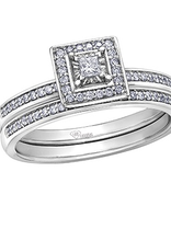 10K White Gold Diamond Stackable Pavee Band