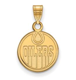 NHL Licensed NHL Licensed (Small) Edmonton Oilers 10K Yellow Gold Pendant