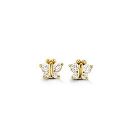 Yellow Gold Butterfly Baby Earrings