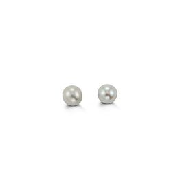 14K Yellow Gold (3mm) Pearl Baby Earrings