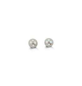 Yellow Gold Pearl Baby Earrings