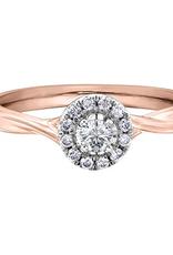 I am Canadian 10K Rose Gold (0.30ct) Canadian Diamond Halo Engagement Ring