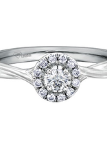 I am Canadian 10K White Gold (0.20ct) Canadian Diamond Halo Engagement Ring