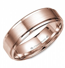 Crown Ring Flat Band (6mm)