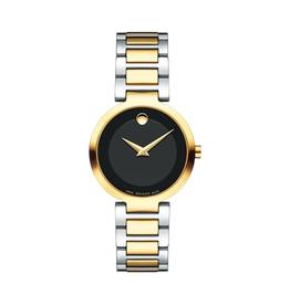 Movado Movado Modern Classic Two Tone Black Dial Ladies Watch