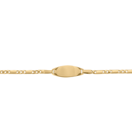 10K Yellow Gold Baby ID Bracelet