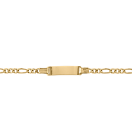 10K Yellow Gold Baby ID Figario Bracelet