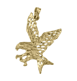 Yellow Gold Flying Eagle Pendant