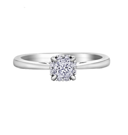 I am Canadian White Gold (0.35ct) Princess Cut Diamond and Canadian Diamond Ring