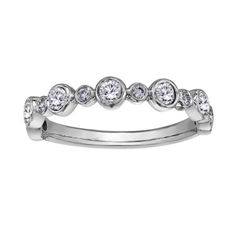 10K White Gold (0.50ct) Bezel Set Diamond Ring
