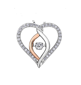 I am Canadian White & Rose Gold (0.25cttw) Canadian Dancing Diamond Pendant