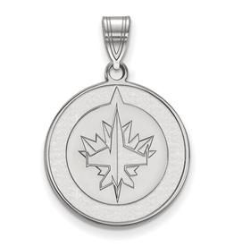 NHL Licensed NHL Licensed (Large) Winnipeg Jets Sterling Silver Pendant