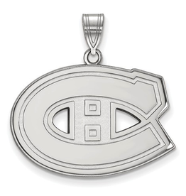 NHL Licensed Montreal Canadiens Large Sterling Silver Pendant