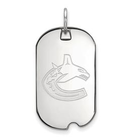 NHL Licensed NHL Licensed Vancouver Canuks Sterling Silver Dog Tag