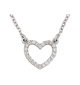 Heart Necklace  (0.11ct) 14K White Gold