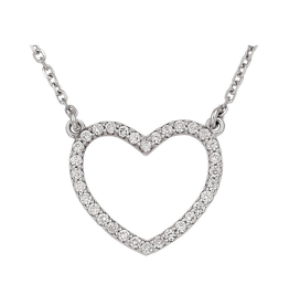 Heart Necklace  (0.25ct) 14K White Gold
