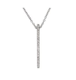 Verticle Diamond Bar (0.11ct) 14K White Gold