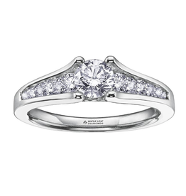 Maple Leaf Diamonds 18K White Gold (0.75ct) Canadian Diamond Engagement Ring
