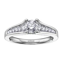 Maple Leaf Diamonds 18K Palladium White Gold Maple Leaf (0.50ct) Canadian Diamond Engagement Ring