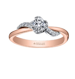 Maple Leaf Diamonds 18K Rose Gold (0.40ct) Maple Leaf Diamond Engagement Ring