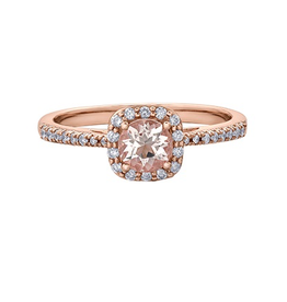 Rose Gold Diamond Morganite Infinity Ring