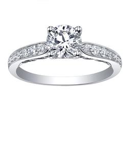 Maple Leaf Diamonds 18K Palladium White Gold Maple Leaf (0.65ct) Canadian Diamond Tides of Love Engagement Ring
