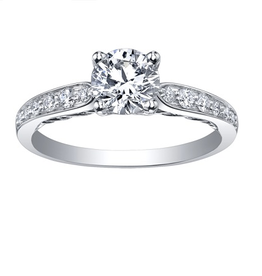 Maple Leaf Diamonds Tides of Love Palladium White Gold (0.65ct) Canadian Diamond Engagement Ring