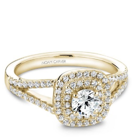 Noam Carver Noam Carver Yellow Gold Diamond Double Halo Ring