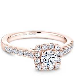 Noam Carver Noam Carver Rose Gold Diamond Halo Ring