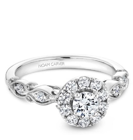 Noam Carver Noam Carver White Gold Diamod Halo Filigree Ring