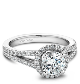 Noam Carver Noam Carver White Gold Halo Mount (0.45ct) Diamond Engagement Ring