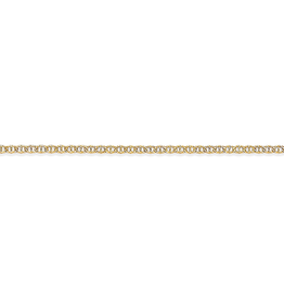 Yellow Gold 2mm Marine Link Ankle Bracelet 10 inches