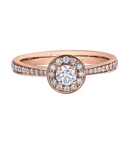 Halo Canadian Diamond (0.50ct) Rose Gold Ring
