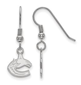 NHL Licensed Vancouver Canucks Dangle Earrings Sterling Silver