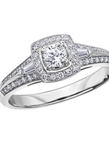 I am Canadian White Gold (0.45ct) Canadian Diamond Halo Engagement Ring