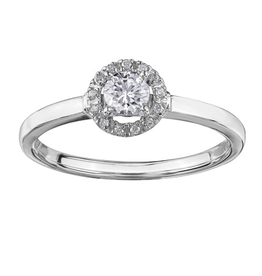 I am Canadian Brilliant White Gold (0.25ct) Diamond and Canadian Diamond Halo Ring